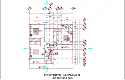 Modified expanded project with construction detail dwg file