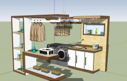 Modular clothes wash room