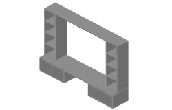 Modular storage unit front elevation