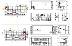 Module of kitchen of restaurant architecture project dwg file