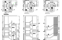 Module of staircase details of multi-flooring house dwg file