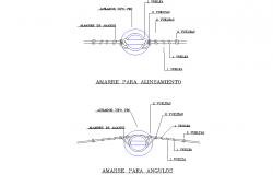 Mooring for alignment plan autocad file