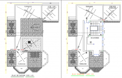 Mosaic flooring layout plan details
