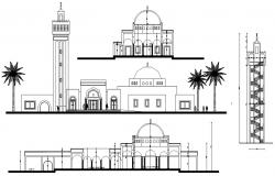 Mosque Elevation CAD DWG
