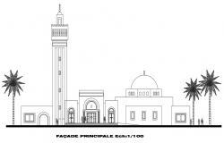 Mosque Mihrab Design CAD File
