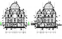 Mosque architectural detail in autocad