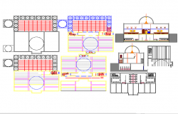 Mosque drawing Elevation & floor plan in autocad