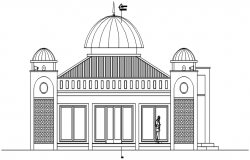 Mosque elevation in dwg file