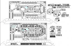 Motel layout plan detail