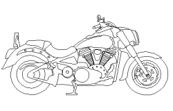 Motor bike 2d elevation