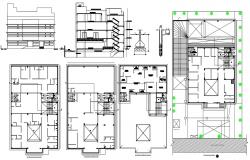 Multi Family 3 BHK Apartment Project AutoCAD File