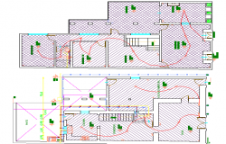 Multi Family Bungalow Design and Structure Details dwg file
