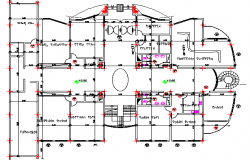 Multi-Family Housing Building Design and Structure Details dwg file