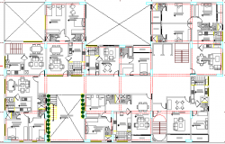 Multi-Family Housing Dwelling Structure Details dwg file