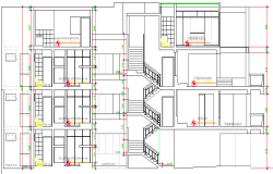 Multi-Family Housing Residency Architecture Design and Elevation dwg file