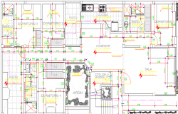Multi-Family Housing Residency Architecture Design and Structure Details dwg file