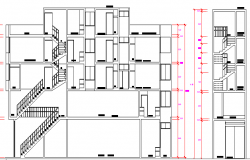 Multi-Family Residential Building Section Details dwg file