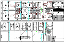 Multi-Family Residential Flats Architecture Design and Structure Details dwg file
