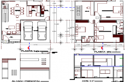 Multi Family and Multi Flooring House Structure Details dwg file