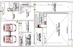 Multi-Flooring Bungalow Design and Structure Details dwg file
