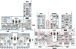 Multi-Flooring Hospital Design Structure Details dwg file