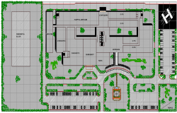 Multi Flooring Hospital Elevation Plan dwg file