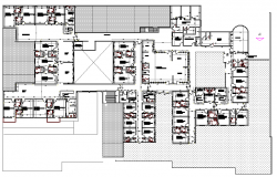 Multi Flooring Hospital Project Elevation Design dwg file