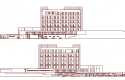 Multi-Flooring Hospital Project Elevation dwg file