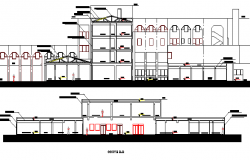 Multi-Flooring Hospital Project Section Plan dwg file