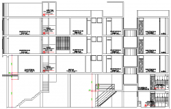 Multi Flooring Hotel Design and Elevation Plan dwg file