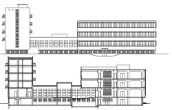 Multi-Flooring Housing Building Architecture Layout,  Elevation dwg file