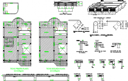 Multi-Flooring Housing Project Construction Details dwg file