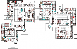 Multi-Flooring Private Hospital Floor Plan Structure Details dwg file