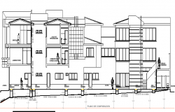 Multi-Flooring Private Hospital Section Plan Details dwg file