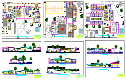Multi-Flooring Shopping Mall Architecture Project dwg file