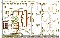 Multi-Specialty Hospital Site Plan dwg file