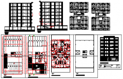 Multi family building design drawing