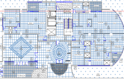Multi-family house landscaping and structure details dwg file