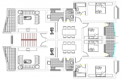 Multi-family housing apartment architecture layout plan dwg file