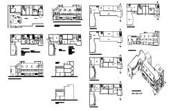 Multi-family housing apartment building detailed architecture project dwg file