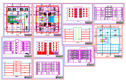 Multi family housing design drawing of flat design