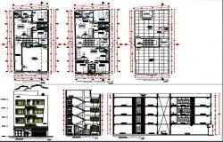 Multi family housing four floors.