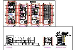 Multi family housing.dwg file