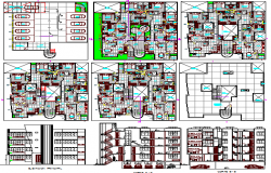 Multi-family residential apartment building architecture project dwg file