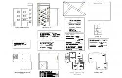 Multi-flooring apartment building detailed architecture project dwg file