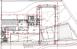 Multi-flooring college architecture layout plan details dwg file