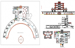 Multi-flooring college details architecture project dwg file
