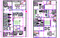 Multi-flooring corporate office structural layout dwg file