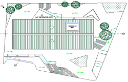 Multi-flooring education building site plan details dwg file