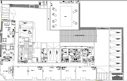 Multi-flooring housing apartment structure details dwg file